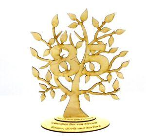 Jubilaeums-Baum-zum-85-Geburtstag-Personalisiert-Holz-28-cm-Geschenk-Lebensbaum
