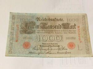 Ticket-Germany-1000-Mark-1910