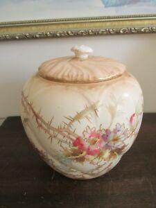 ANTIQUE ROYAL BONN Allemagne peinte à la main porcelaine biscuit pot fleurs or-afficher le titre d`origine WpQDavLT-09164139-790487947