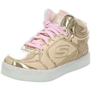 Details zu Skechers Sneaker LED Sohle Licht gold rosa 10771L RSGD Mädchen Energy Lights