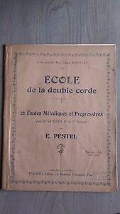 Scuola Della Doppia Corda Spartito 26 Melodies Violino E. Pavel Ivanovič Pestel'