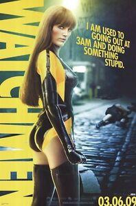 Watchmen Silk Spectre Ii 3am 24x36 Movie Poster Zack Snyder Malin Akerman Ebay