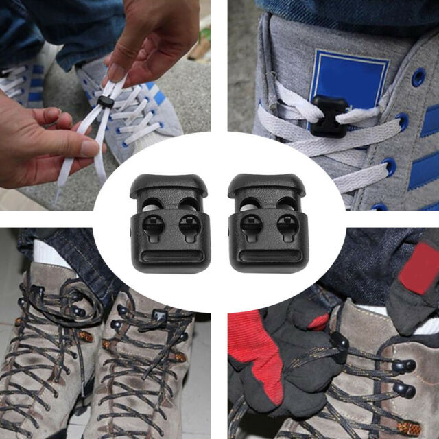 10Pcs Universal Shoe Lace Shoelace Buckle Rope Clamp Cord Lock Stopper Clip