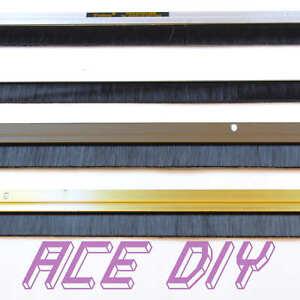 Door Draught Excluder Brush Strip Bar   25 mm Exitex Heat Seal Energy Savings