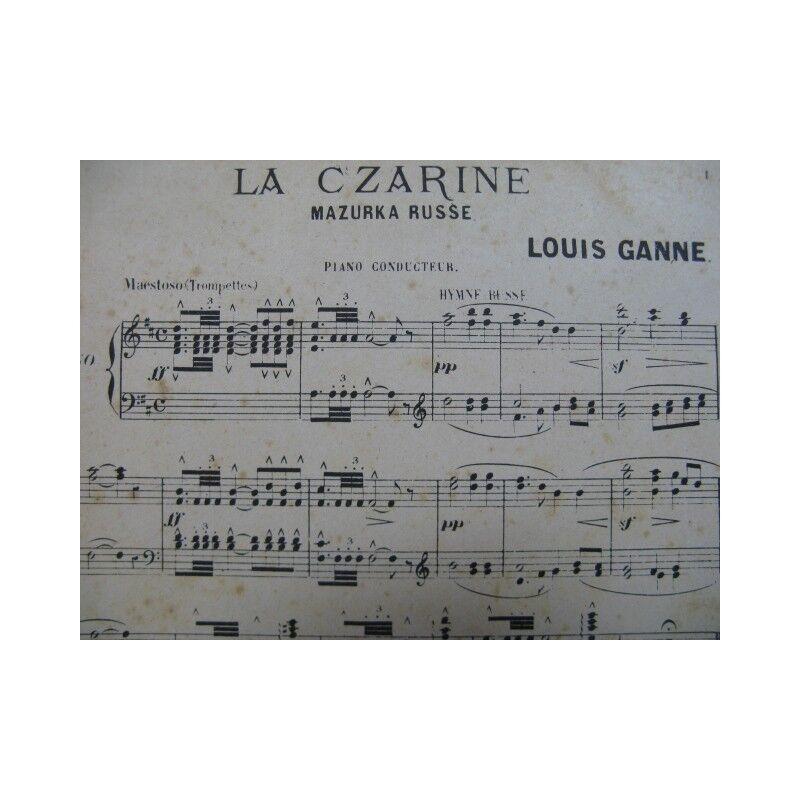 GANNE Louis die czarine Marzurka Russland Orchester ca1890 Partitur sheet music