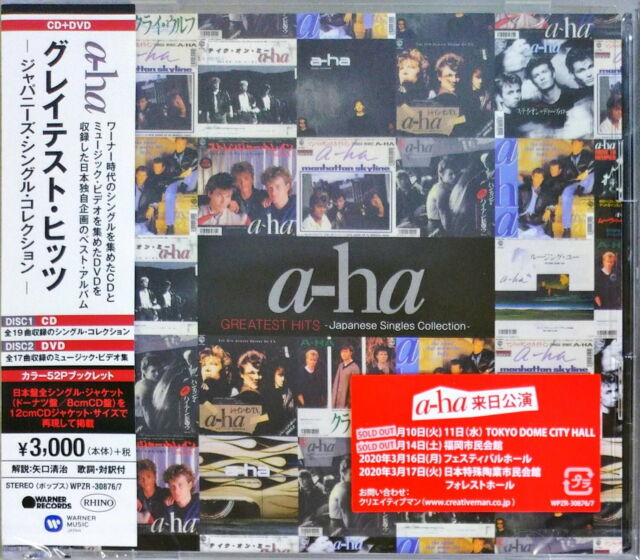 A-HA-GREATEST HITS JAPANESE SINGLE COLLECTION-JAPAN CD+DVD+BOOK G88