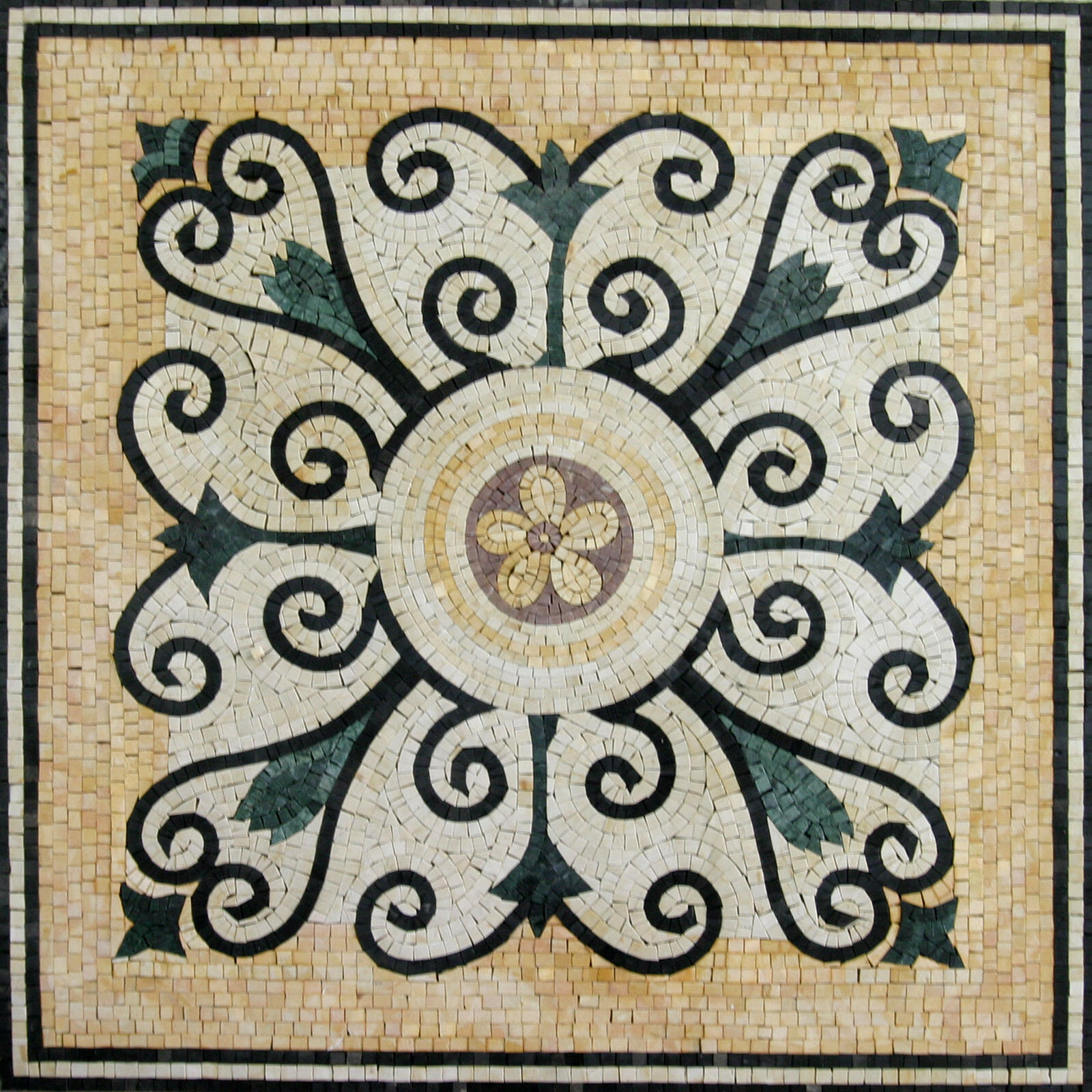 Archaic Greek Palace Tile Decor Floor Pool  Home Marble Mosaic GEO1445