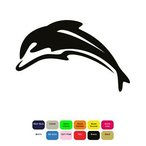 Dolphin-Iron-On-Sticker-T-Shirt-Clothes-Heat-Transfer-Vinyl-HTV-Decal-12-Colours