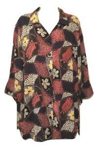 Fashion-Bug-Women-039-s-Blouse-Plus-18-20-3-4-Sleeve-Button-Down-Shirt