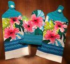 ☕ESPRESSO FRESH BREWED CAFE DU JOUR ~~ Crochet Top Cotton VELOUR Kitchen Towel☕