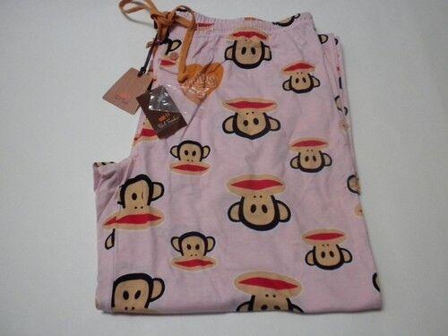 Paul Frank Adult Large Pink Pajama Lounge Bottoms Pants JULIUS SIG JERSEY