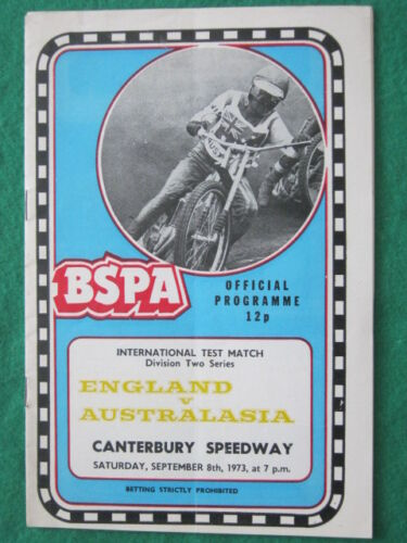 SPEEDWAY INTERNATIONAL England v Australia 8 Sept 1973