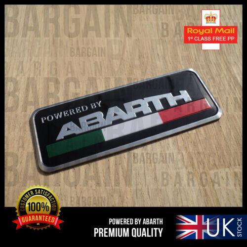 FIAT 500 POWERED BY ABARTH BLACK ALUMINIUM PUNTO 500XL EVO CAR BADGE