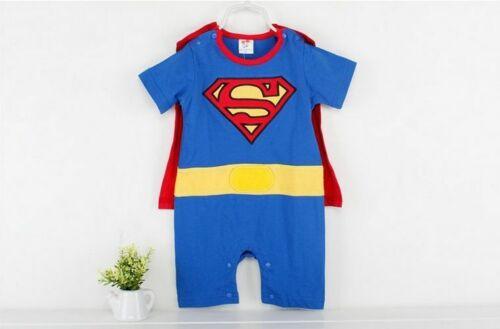 Baby Boy Romper Superman Long Sleeve Smock Halloween Christmas Kids Costume Gift
