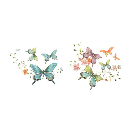 Butterfly Flowers Patches Irons on Stickers Heat Transfers Patches Applique B$CA