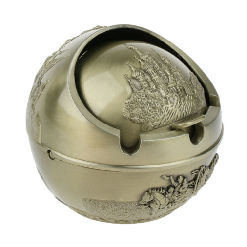Portable Windproof Metal Ashtray /& Lid for Car Hotel Home Use Great Gift S