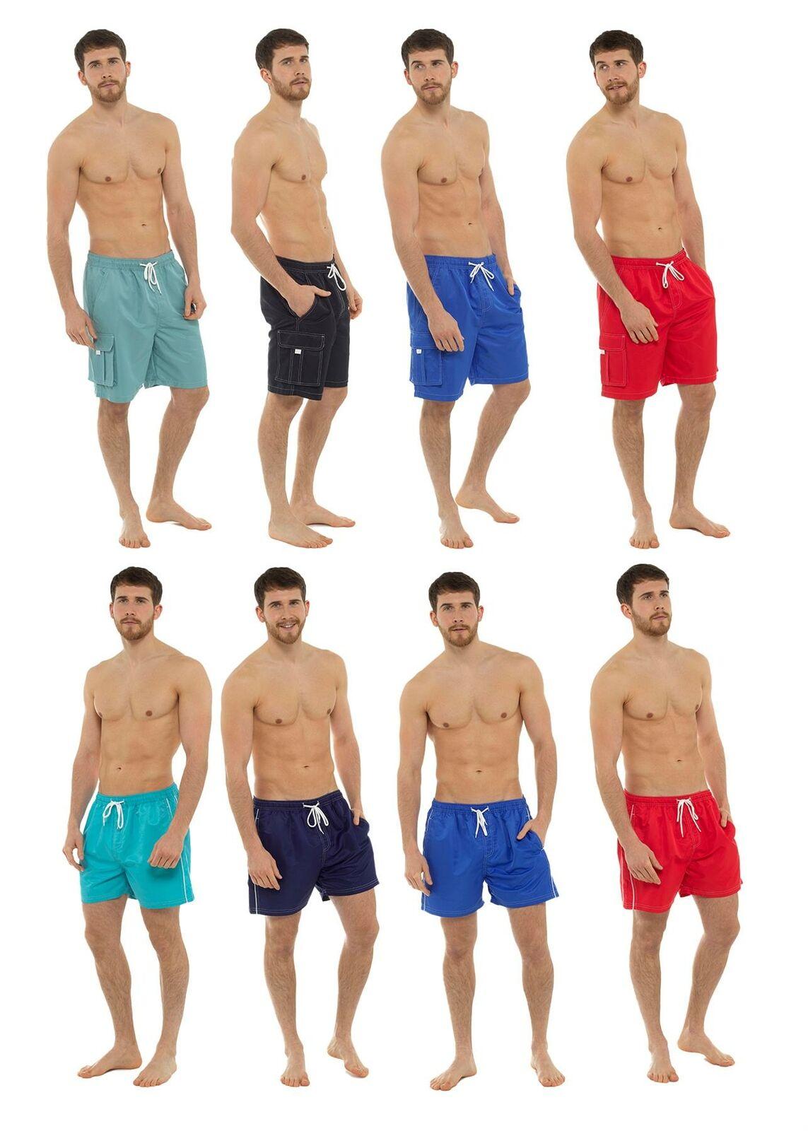 Kids Boys Tom Franks Lined Swim Holiday Beach Swimming Shorts Plain or Shark