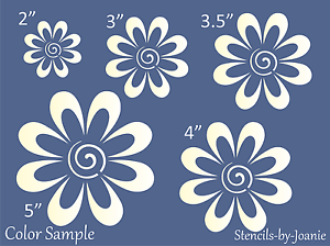 STENCIL-Garden-Flower-Swirl-Daisy-Country-French-Cottage-Easter-Spring-Home-Art