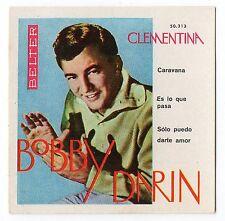 1960 Spanish Film Star Card US Dream Lover Mack The Knife Singer Bobby Darin