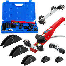 Vevor Ratcheting Pipe Tube Bender Hvac Refrigeration Tool 7 Dies With Pipe Cutter