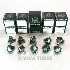 Nos Nib Vintage Lot Of 10 Clarostat 49m9 5 Rotary Potentiometers Pots 5 Ohm 15w