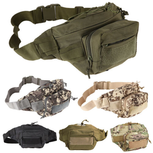 Tactical Military Travel Camping Hiking Belt Bag Waist Fanny Pack Bags