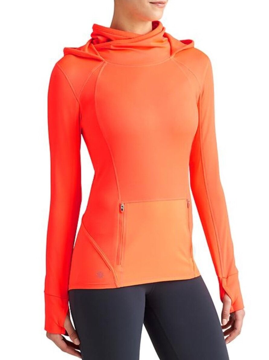 NWT Athleta Plush Tech Hoodie 3.0, Ember orange, Small (S), Run, Gym, Soft
