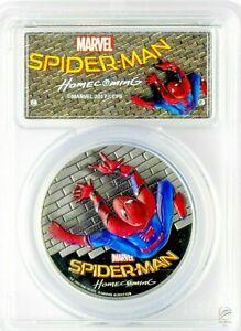 2017-5-Cook-Islands-Spider-Man-Homecoming-1oz-999-Silver-Coin-PCGS-PR70DCAM-FD
