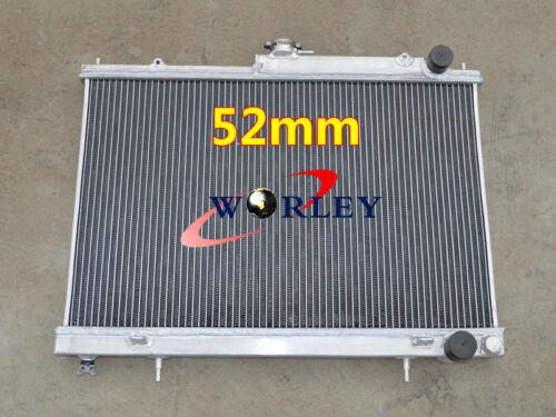 52mm 2 Row Aluminum Alloy Radiator for Nissan Skyline R33 R34 GTR GTS-T