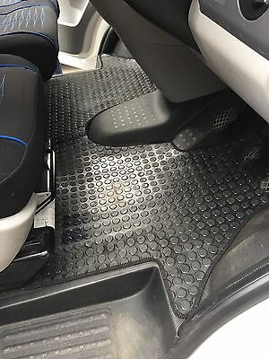 Heavy-Duty Rubber Floor Mat for VW T5 Double Front Tailored Fit 1 Piece Quality