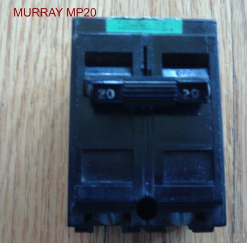 MURRAY MP20  CIRCUIT BREAKER 2 POLE 20 AMP 120//240 VOLT NI CIRCUIT BREAKER