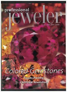 Professional Jeweler Magazine January 2000 Colored Gemstones Tucson Show