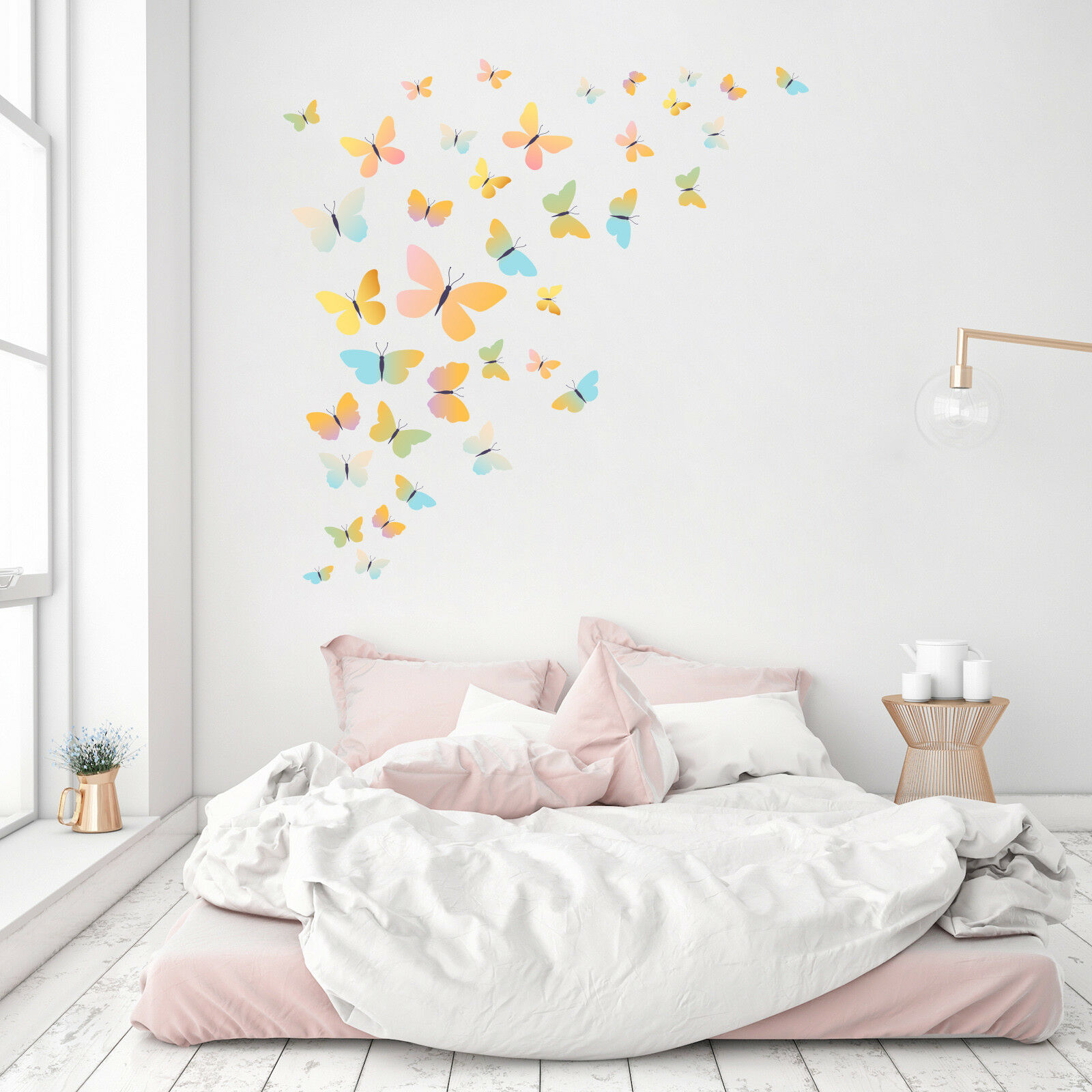 3D Farbe Butterfly 9634 Wallpaper Murals Floor Wall Print Decal Wall Sticker