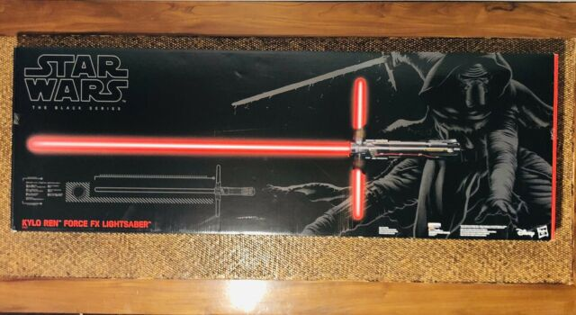 Disney Store Star Wars Kylo Ren Force FX DLX Lightsaber The Black Series 2015