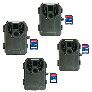Stealth-Cam-Video-Audio-Photography-Hunting-Game-Trail-Camera-4-Pack-SD-Cards