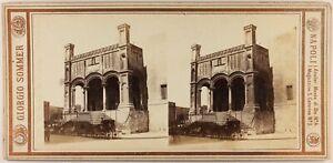 Italia Palermo Santa Maria Della Catena Foto G.Sommer Stereo c1860 Vintage