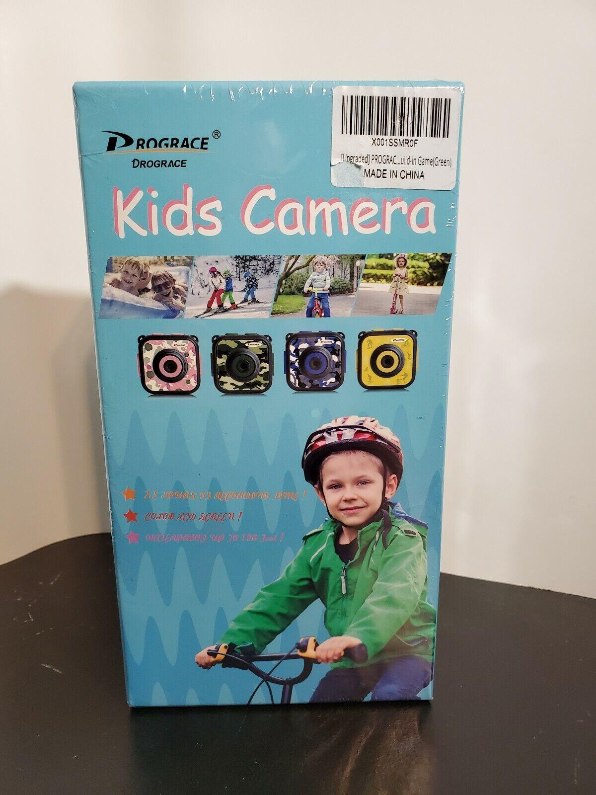 PROGRACE Children Kids Camera Waterproof Digital Video HD Action Camera 1080P Sp 1080p action camera children digital kids prograce video waterproof
