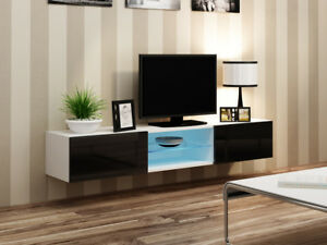 Image Is Loading Seattle 42 White Tv Console Table Entertainment Unit