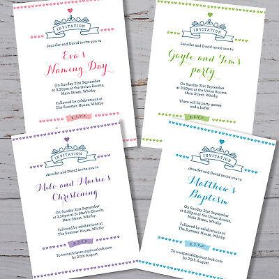 Di Carattere Dolce 40 Battesimo Personalizzato Inviti Battesimo Di Denominazione Giorno Festa Di Compleanno-mostra Il Titolo Originale In Molti Stili