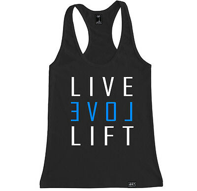 LIVE LOVE LIFT WOMEN RACERBACK TANK TOP SHIRT CROSSFIT WOD FIT TRAIN YOGA GYM