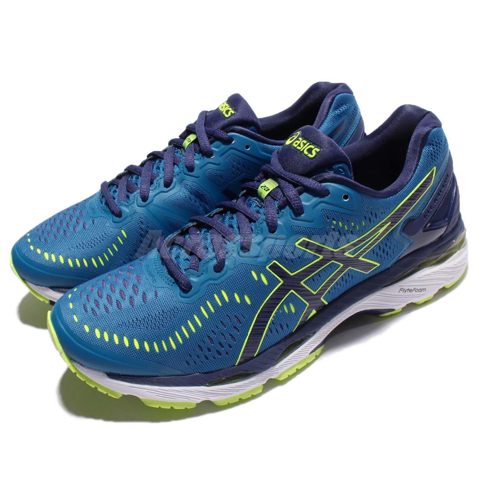 Asics Gel-Kayano 23 blueee  Yellow Men Running shoes Sneakers Trainers T646N-4907  honest service