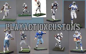 Choix de 1 figurine d'action personnalisée pour les Cowboys de Dallas, faite avec W / Mcfarlane Nfl