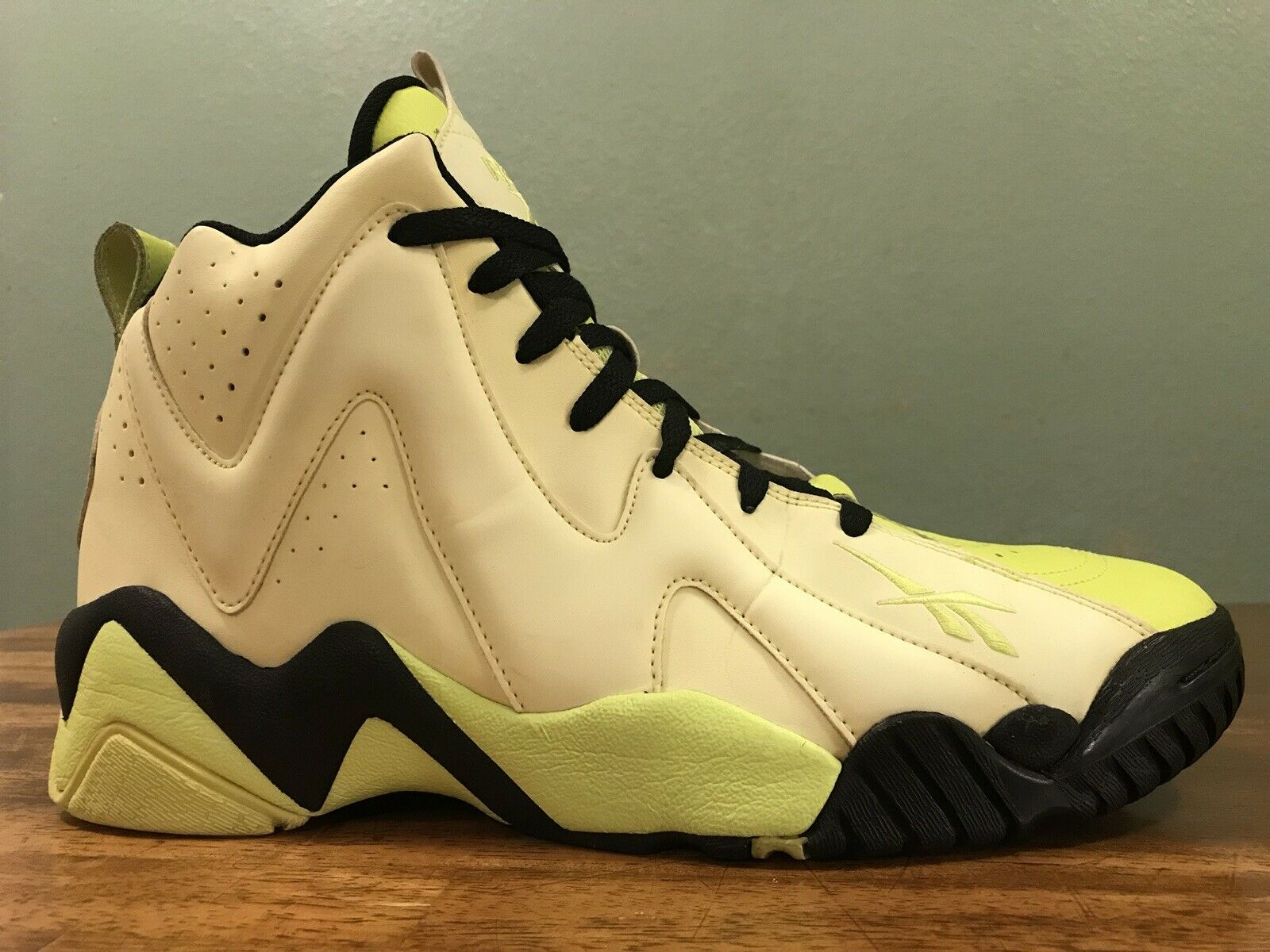Reebok Kamikaze II Mid Jaune Fluo GFaible in the Dark Chaussures Hommes Taille 12