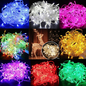 Fairy-String-Lights-Lamp-10M-100-LED-Christmas-Wedding-Xmas-Party-Decor-Outdoor