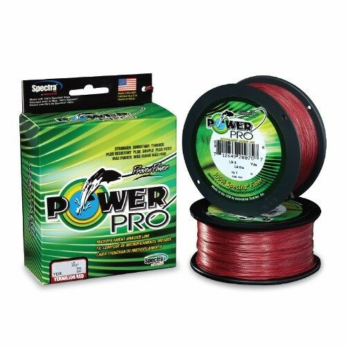 Power Pro Spectra Braid Fishing Line 100 lb Test 500 Yards Vermilion rosso 100lb