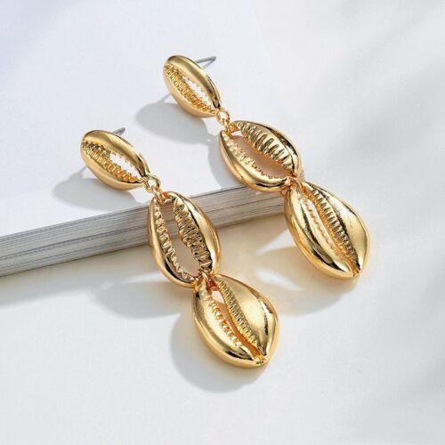 Aretes de Mujer Boho Concha De Perla Pendiente Colgante Pendiente Aro Joyería geométrica