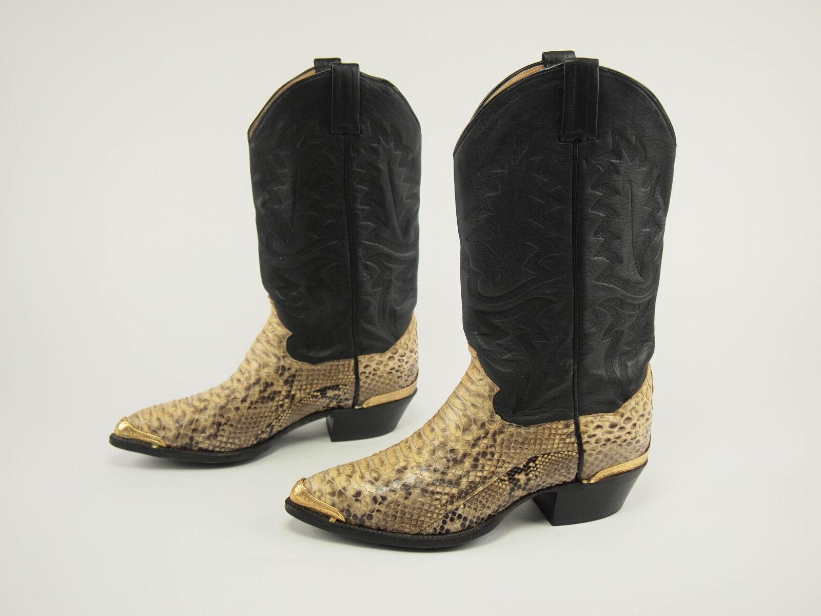 1980s PANHANDLE SLIM Vintage Vintage Vintage Python Western Cowboy Stivali 7.5 EE 8bdb46