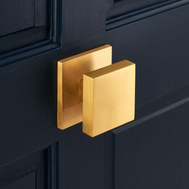 Luxury Modern Circle Solid Brass Exterior Front Door Gold Centre Door Knob For Sale Online Ebay