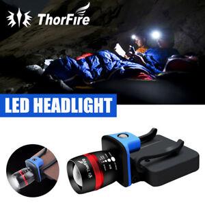 LED Cap Light Headlamp 3 Modes Ball Hat Lamp Flashlight Zoomable NEW