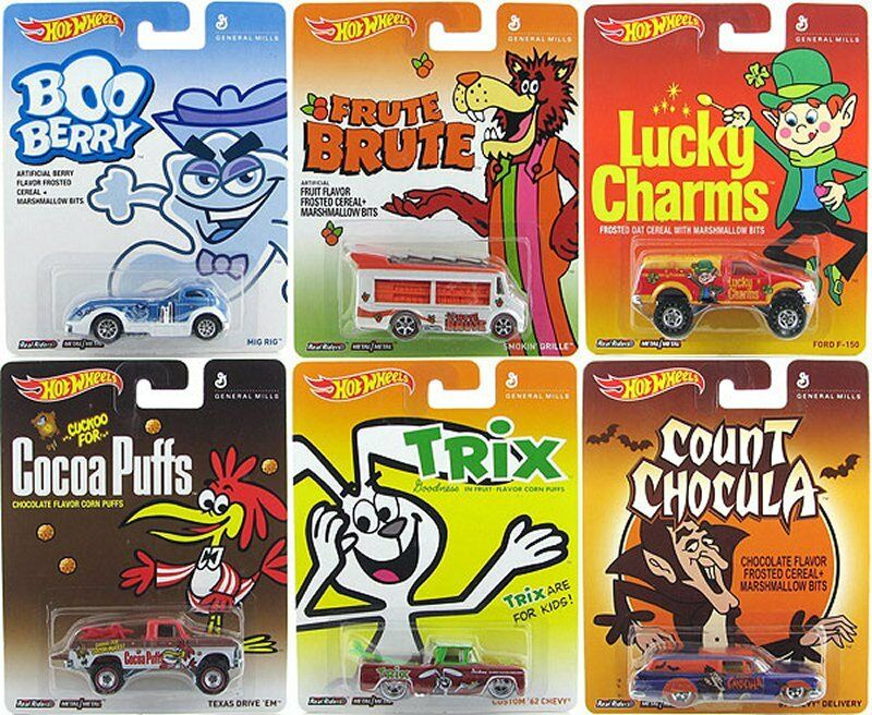 Hot Wheels 1 64 Pop Culture ASSORTMENT V 2014 - GENERAL MILLS 6 Pcs Diecast Car